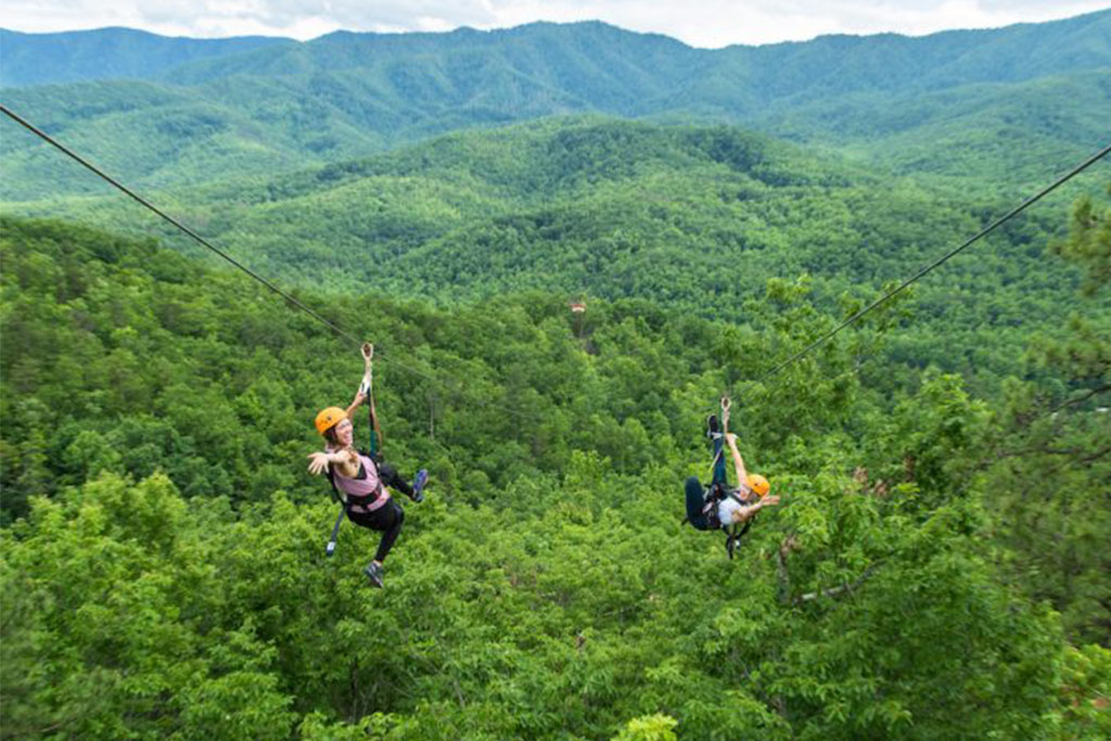 ziplining in Gatlinburg, ziplining in Pigeon Forge, ziplining in Sevierville