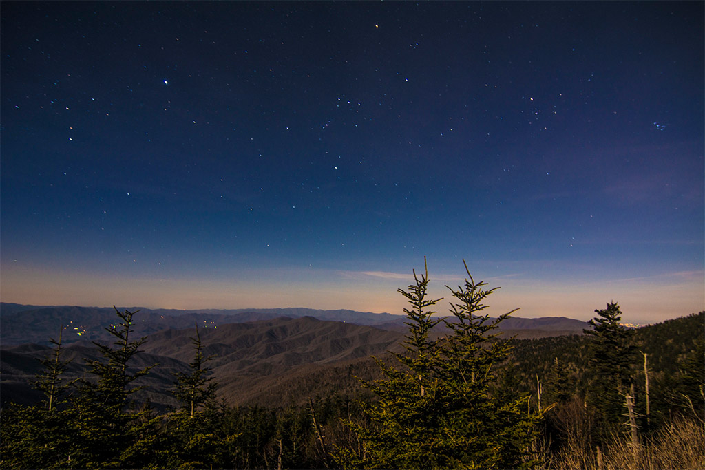 Clingmans Dome Tower night view