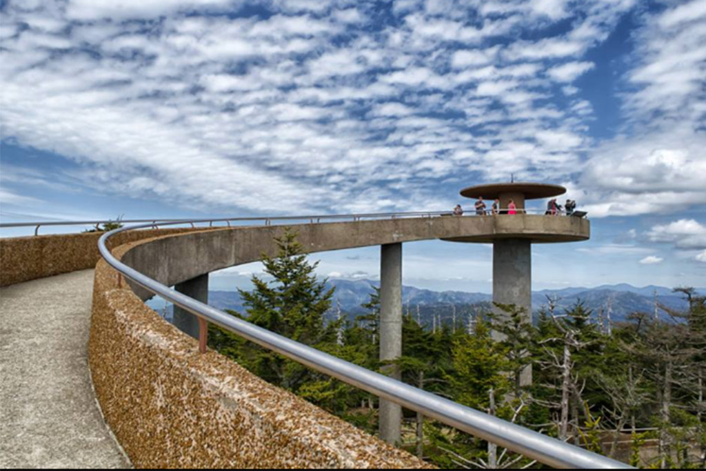 Clingmans Dome Tower at Great Smoky Mountains National Park