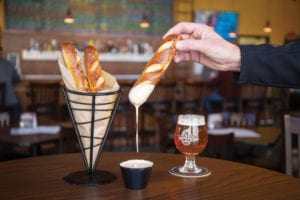 the casual pint pretzel with cheeze